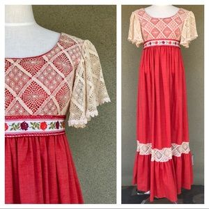 Vintage 70s Couriers midi dress